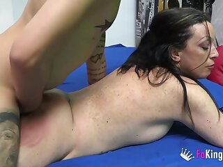 Naff matured wants monster cock up her ass