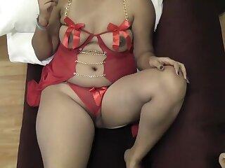 Rupali Bhabhi In the air Red Skivvies