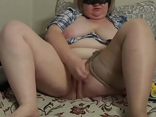 masturbation just about corn cob, MILF just about huge tits