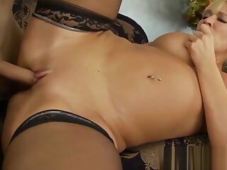 MILF and stepdaughter riding a uncalculated cock