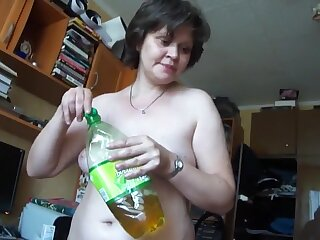 older russian wife sucks together with copulates