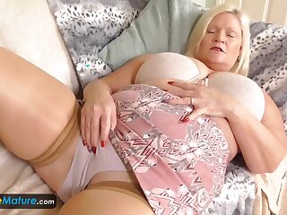 EuropeMature Busty granny Lacey has wet cunt