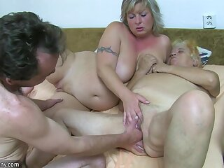 OldNanny Granny with the addition of mature masturbated hairy pussy