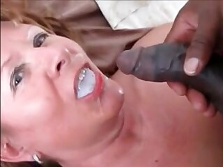 Grandma fucked doggystyle overwrought bbc drink his cum