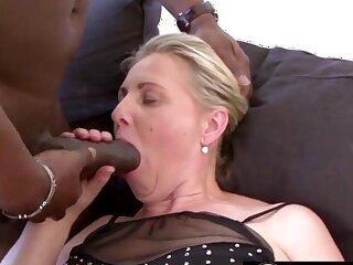 Mature blonde women and grandmas enjoy sucking huge and black dicks so good