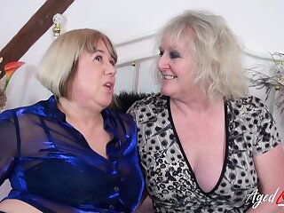 Three torrid pornstars Auntie Trisha and Claire Knight have sex with yoke big cocks