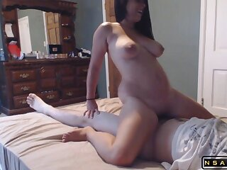 Horny milf with big titties enjoys a flagitious fucking overhead be passed on abut on