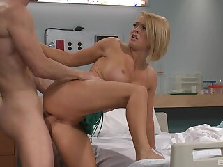 Horny the reality persuades hot kirmess nurse Krissy Lynn to have sex roughly him