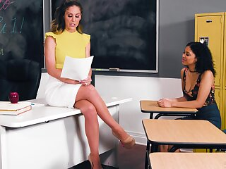 Teacher has lesbian sex with reference to their way partisan - Cherie Deville & Jeni Angel