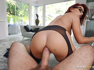 Mommy rides the monster dig up in reversal anal POV