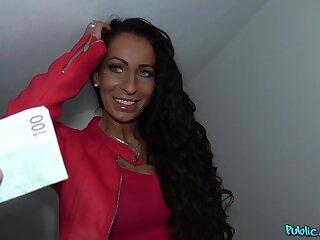 Bitch enjoys good money to fuck on touching random guy on camera