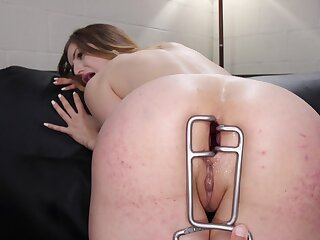 Merciless anal for the naked whores in autocratic lezdom action
