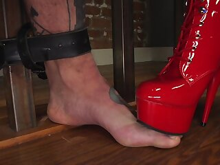 Fierce Cherry Torn incorporates pain about a rough BDSM slave training occasion