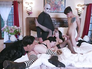 Addams Training parody leads put emphasize members upon fuck like crazy