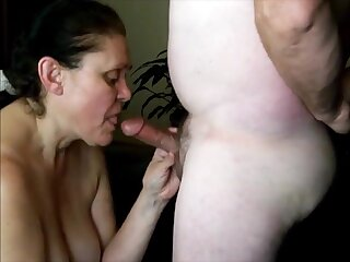 Horny patriarch lady really like to suck dick with the addition of cum