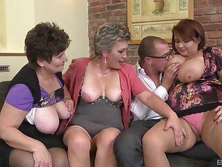 Old slut Hana Spidlova shares her lover with her best friends