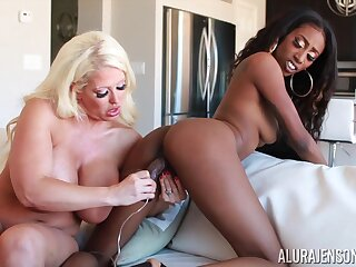 Feeling extremely horny perverted busty MILF Alura Jenson is ready for lesbian fun