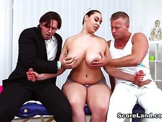 Three On A Massage Table - Anastasia Lux, Dennis Reed, and Tom Holland - Scoreland
