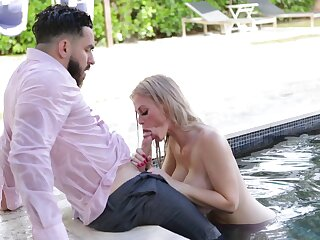 Bearded dude is treated right with gorgeous busty sexpot Casca Akashova