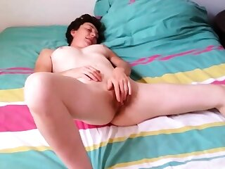 French Slut Girl Cumming While Jerking a Cock