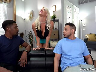Hardcore interracial anal threesome with dirty MILF London River