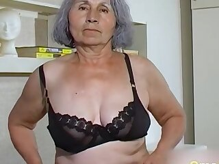 Homemade granny compilation of hairy pussies drilled with sex toys