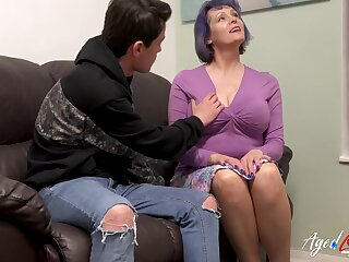 Busty Mature Fucking Youngster Stud