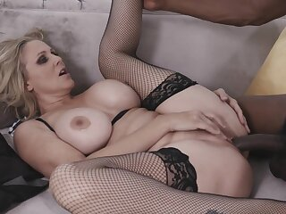 Sexy Blonde Milf Julia Ann Takes A Big Black Cock In Her Tight Pussy From My Mom Loves Black Men