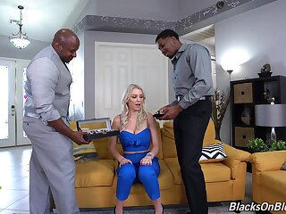 Unconscionable dudes fucks horny wife in such a way that she reaches merging orgasms
