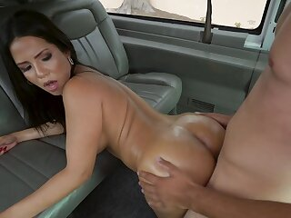 First time this premium unspecified strips and gets laid less the bang bus