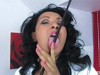 Homemade video of Danica Collins fingering her intrigue b passion hole. HD