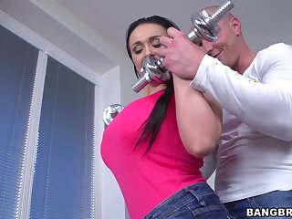 Hardcore fucking on the floor with oiled hot-wife Sandra. HD