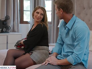 Horny cougar Kayley Gunner moans during passionate having it away