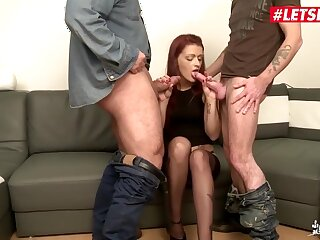 Fabrice Triple X In French Redhead Milf Dped Constant In the long run b for a long time Husband Is At Work