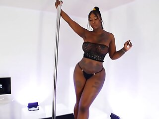 Velvet Sheer - Black Dress On Dance Stage
