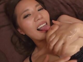 Spectacular MILF with huge tits, munificence Japanese teaser